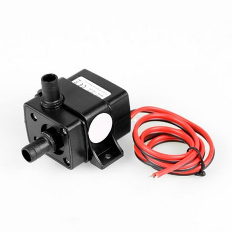 Mini Ultra-Quiet Water Pump Brushless Permanent Magnetic Rotor Submersible Water Pump Aquarium Garden Pond Fountain 12V DC 4.8W