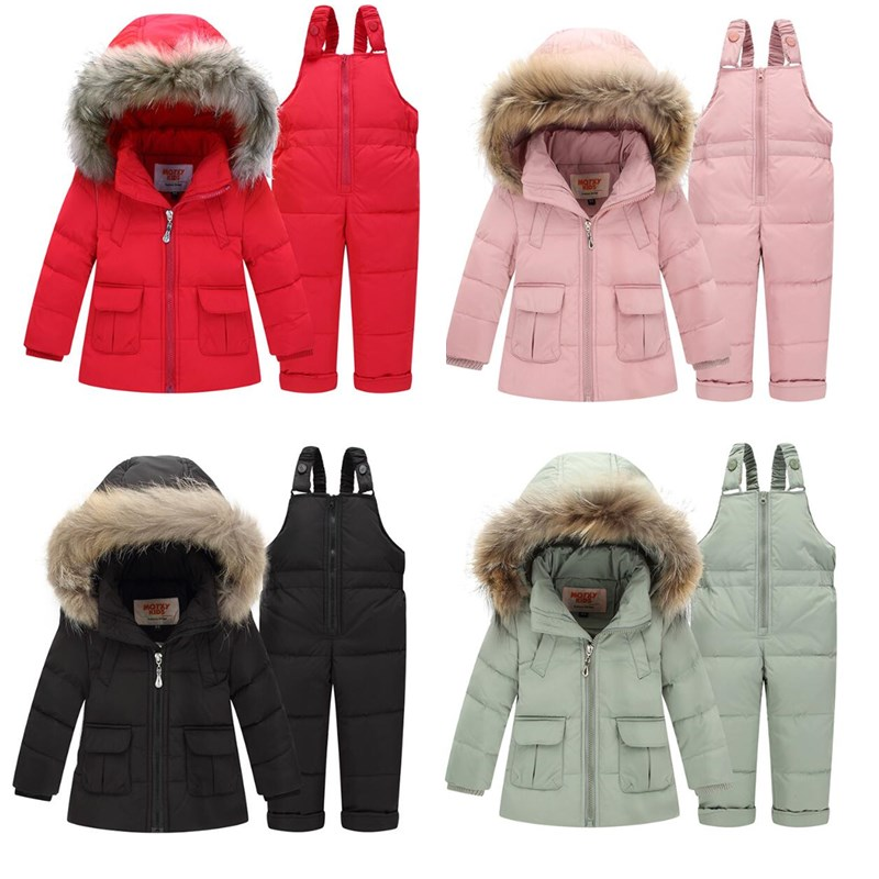 2019 New Winter Jacket For Girls Coat Baby Girl Snowsuit Hoodies Kids