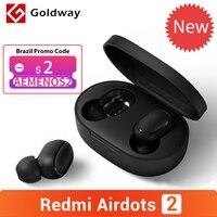 Xiaomi-auriculares Redmi AirDots 2 con Bluetooth 5,0, auriculares internos estéreo de graves con micrófono, modo de baja Lag para izquierda y derecha