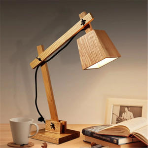 Desk-Light Bedside-Lamp Creative Individuality Fashion Bedroom Wood Nordic Simple