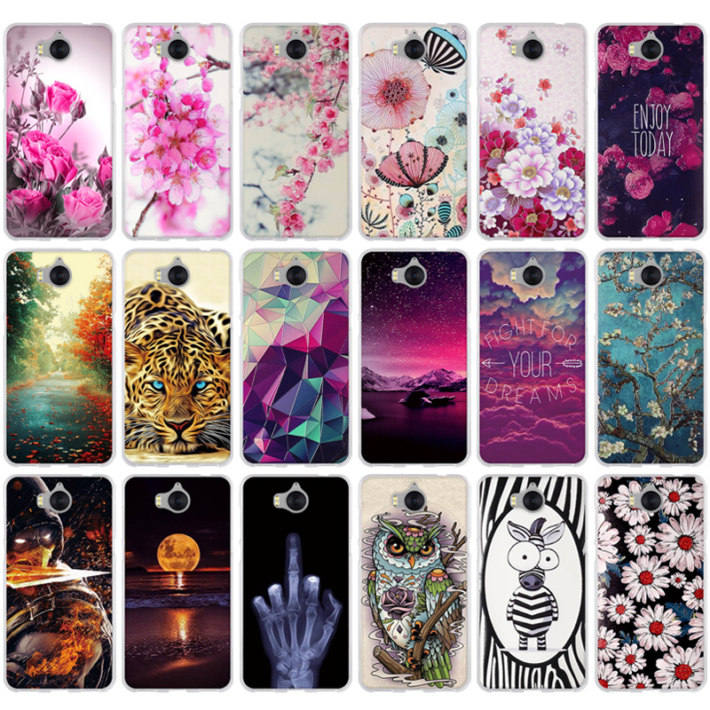 """For Coque Huawei Y5 2017 Case Cover Huawei Y6 2017 Case Silicon Soft TPU Back Cover For Huawei Y5 2017 / Y6 2017 5.0"""" Phone Case"""