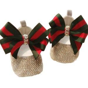 Image 5 - ブランドに触発幼児記念品クリスタルpersonlized手作りベビー王女の靴すべてカバークリスタル誕生日ギフトブリンブリンの靴