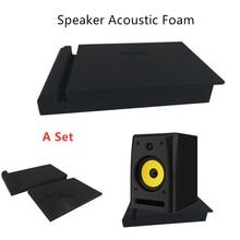 Um conjunto de 30x17x4cm esponja estúdio monitor alto-falante isolamento acústico espuma isolamento à prova de som almofadas isolador de espuma alta densidade