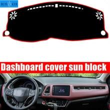 цена на For Honda HRV HR-V Vezel 2014-2019 Dashmat Dashboard Cover Mat Pad Interior Sun Shade Instrument Carpet Car Styling Accessories