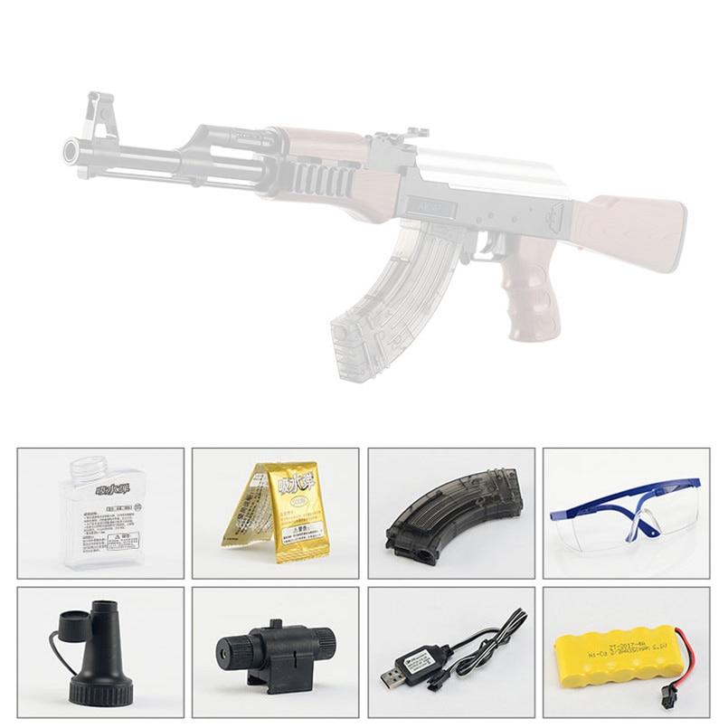AK47 électrique rafales jouet pistolet à eau balle pistolet enfants garçons fusil pistolet en plein air en direct CS jeu manuel fusil jouets pour enfants cadeaux