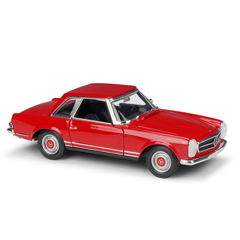1:24 Welly Benz 230SL Red / Cream White Diecast Model Car