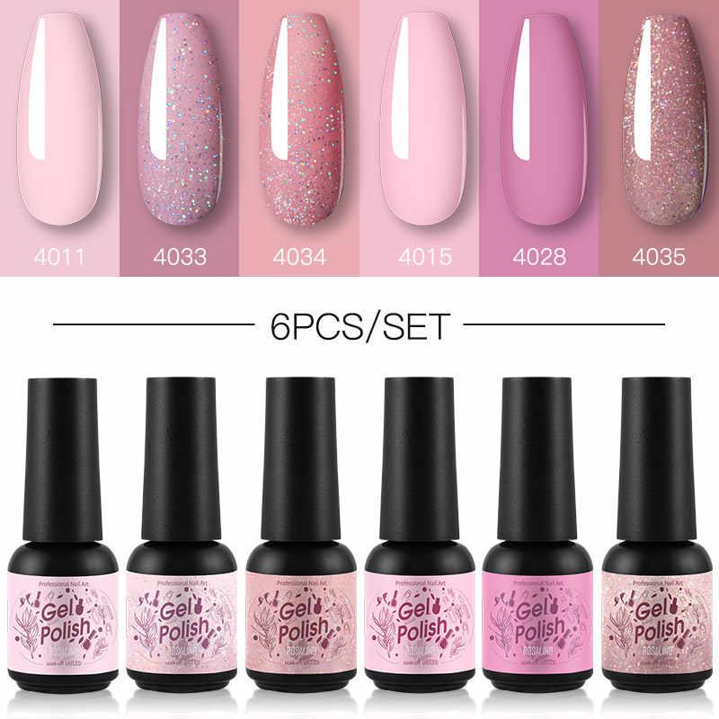 Rosalind Nail Gel Polish Set 6 Stks/set Semi Permanente Base Top Nodig Uv Led Lamp Manicure Art Hybrid Nagels Gel polish Kit