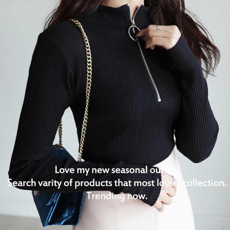 Genayooa Musim Gugur Musim Dingin Wanita Sweater Pullovers Rajutan Wanita Baju Musim Dingin dan Atasan dengan Ritsleting Lengan Panjang Jumper Wanita Atasan