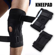 1pair Sports Knee Pads Anti-collision Non-slip Double Aluminum Plate Support Protective Gear MC889
