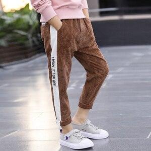 Image 5 - Leggings pour garçons, en coton, printemps automne, pantalons de survêtement à volants pour enfants, 3 à 12 ans, pour bébés garçons, 2020
