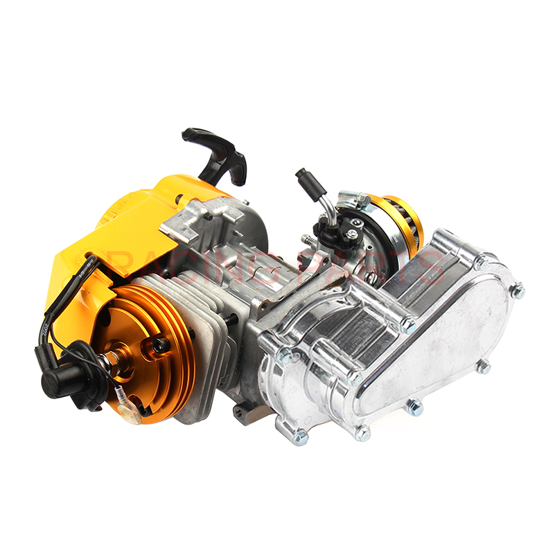 2-hub Racing Motor 49cc Mini Motor Tasche Quad Dirt Bike Pull Start