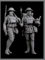 1/35 Soldado Britânico Figura de Resina Kit De Construção