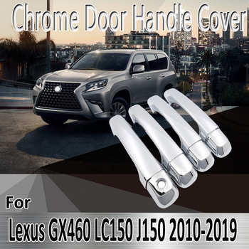 for Lexus GX460 j150 LC150 2010~2019 2011 2013 2015 Styling Stickers Decoration Chrome Door Handle Cover Refit Car Accessorie image