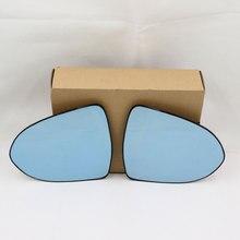 กระจกสีฟ้ากระจกมองหลังป้องกันแสงสะท้อนเปิดไฟสัญญาณหลอดไฟอุ่นกระจกมองหลังสำหรับKIA Sportage