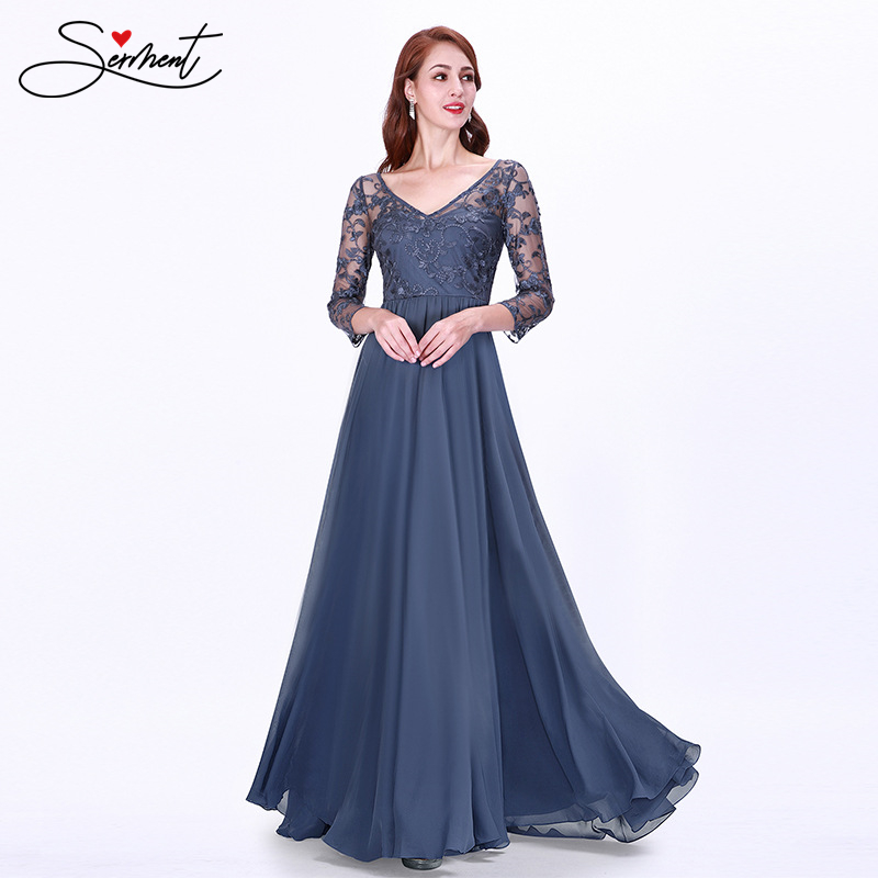 OLLYMURS Hot Sale Long Size Plus Size Embroidery Lace Slim Slim V-neck Sexy Evening Dress  Women Dress Evening Party