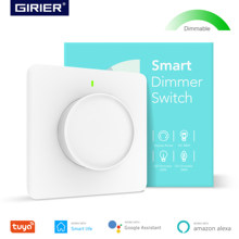Smart Wifi Light Dimmer Switch, Dimmable Rotary Wall Switch EU 100-240V, Works with Alexa Google Home Assistant, No Hub Required