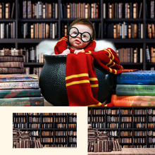Retro Bookshelf-Newborn Kids Magic Photography Backdrop Vintage Book Background Children Art Photo Studio Backdrop free shipping angel digital kids studio photography background backdrop 5x10ft baby children fabric backdrop a 1190