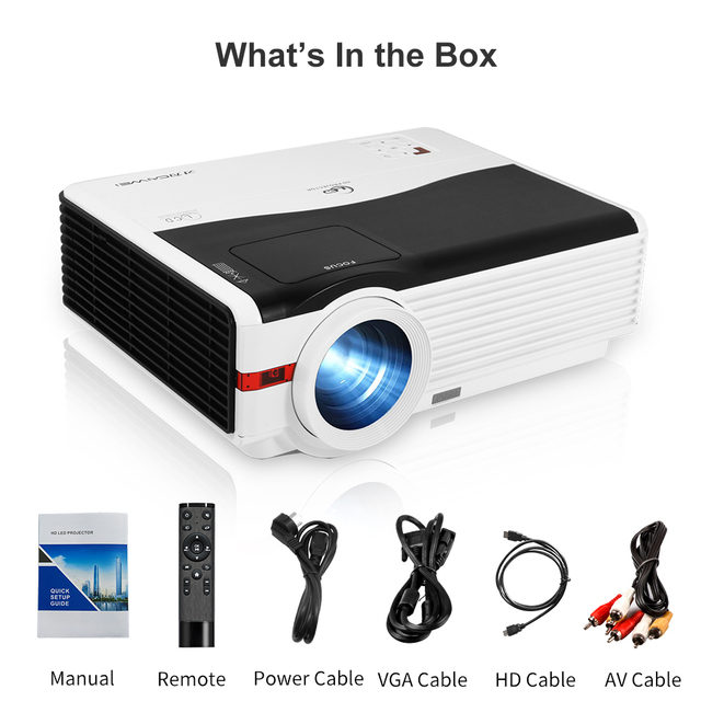 A9AB Beam Projector Home Theater Video Led 6000 Lumens Wireless Airplay Android Freeshipping Support Full Hd 1080P Projector 6