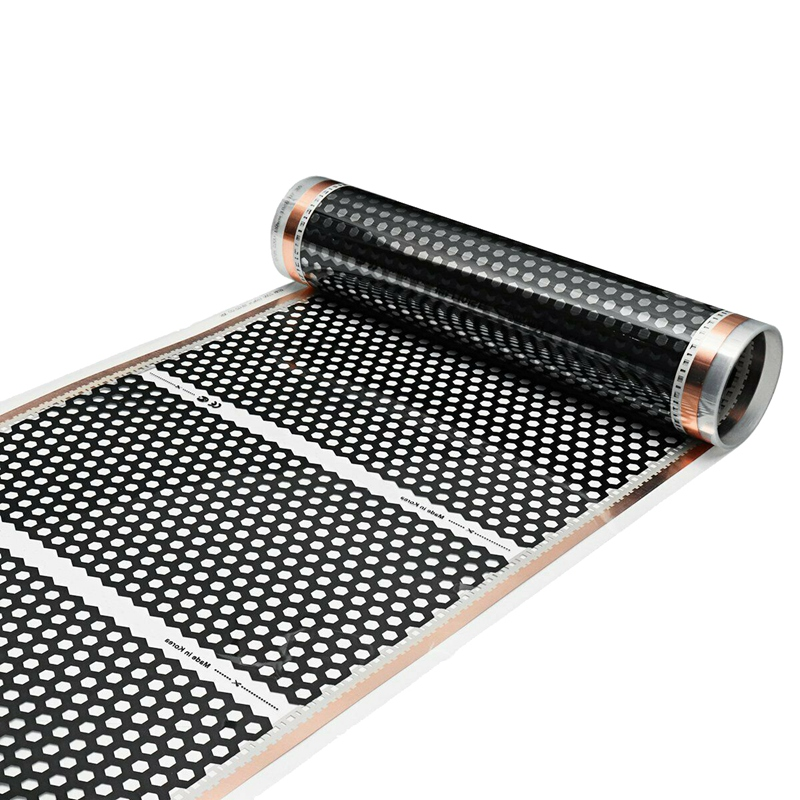 Calefactor de suelo 50CM x 2M calentador tipo panal eléctrico infrarrojo calefactor película de suelo 220V Lámparas de pie LED nórdicas minimalistas lámparas de pie Led NEGRO de sala/lámparas de pie Luminaria de aluminio blanco decorar