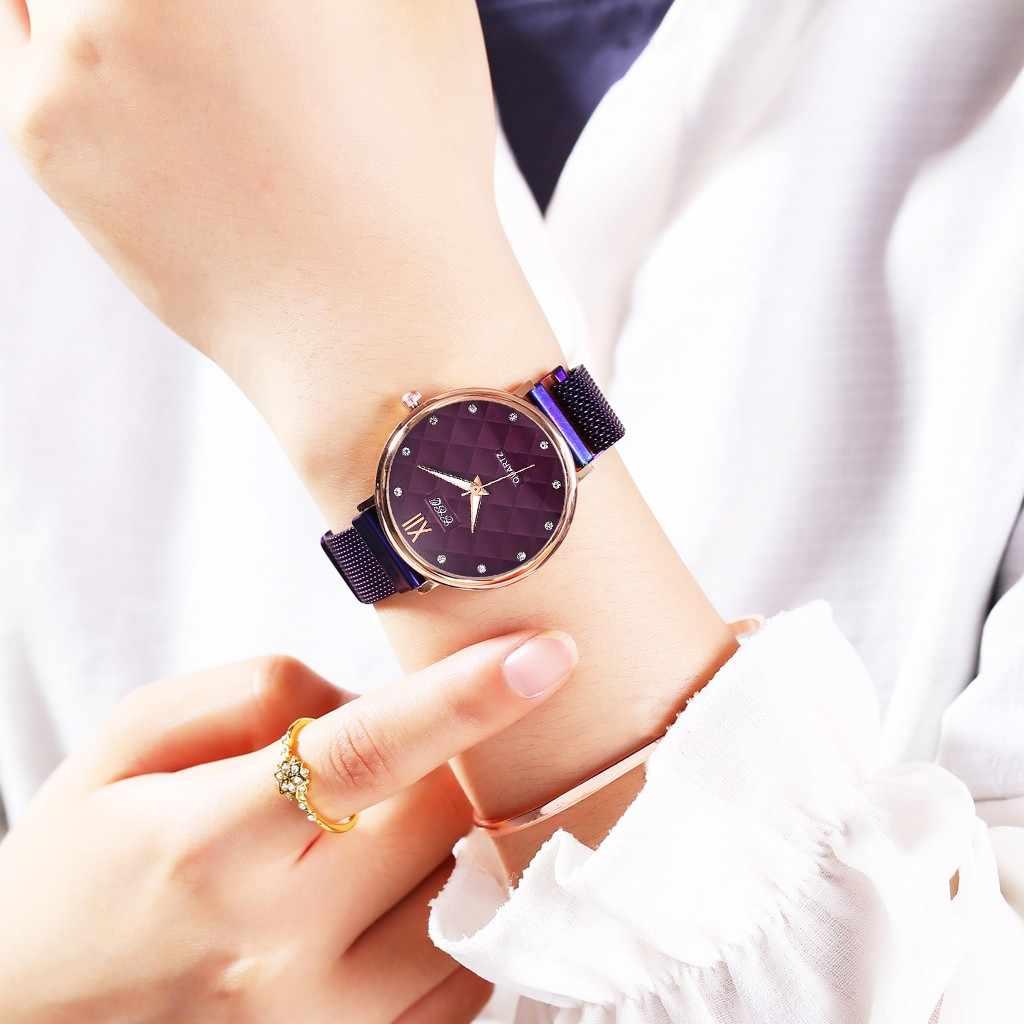 Relojes de Mujer 2019 marca superior lujo encanto negocios moda acero diamantes de imitación Reloj Mujer Zegarek Damski señoras Reloj