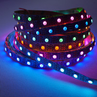 Jiguoor 5M WS2812 IC SMD5050 300 LED RGB Strip Light Lamp Non waterproof Dream Color Addressable DC5V Christmas Decoration