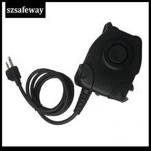 Wodoodporny kabel PTT do zestawu słuchawkowego Z taktycznym ComtacII H50 MSA SORDIN H60 HD03 do MIDLAND G6/G7/G8/G9 GXT550 GXT650 LXT8