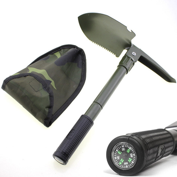Folding Spade Shovel Army Military Camping Metal Portable Survival Trowel Outdoor Tool Mini Survival Shovel With Saw for Garden large size outdoor adjustable snow shovel camping shovel survival shovel upscale outdoor folding shovel survival camp spade tool