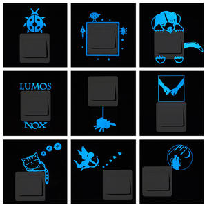 Kids Sticker Decal Decoration Luminous-Switch Glow-In-The-Dark Cartoon 1PC Cat-Fairy