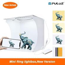 Mini LED anneau lumière photo photographie studio luces LED stand tente boîte fotografia lightbox utilisation pour bijoux avec 6 décors de couleur
