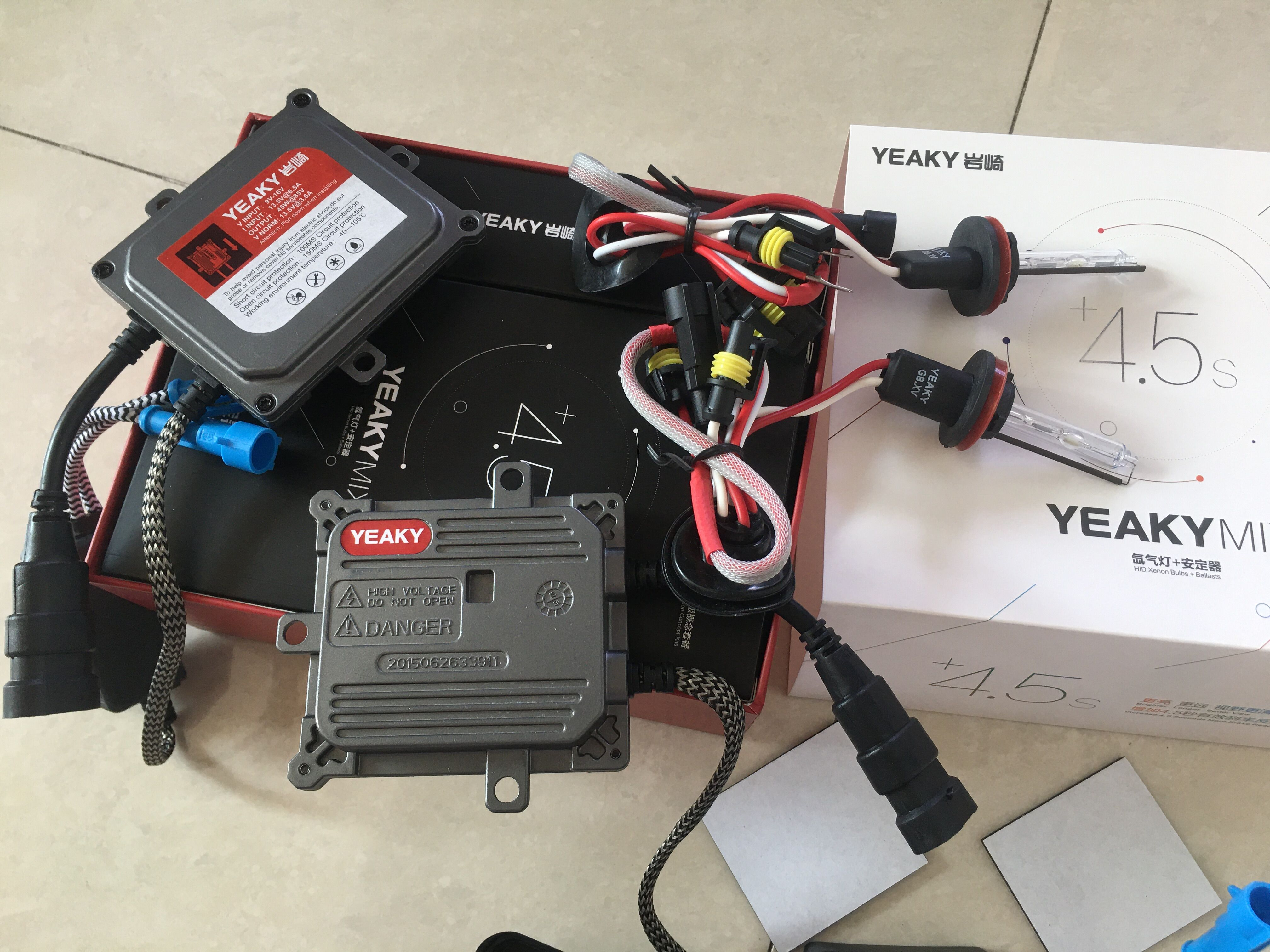New 45W Yeaky Xenon Kit H1 H3 H7 H11 9005 9006 Fast Bright Original Yeaky 5500K HID Light For Car Headlight Bulbs HID Xenon Kit