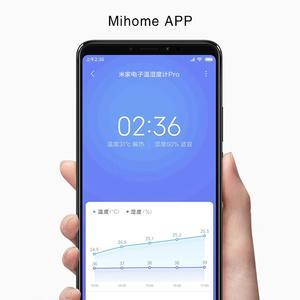Image 3 - XIAOMI MIJIA מדחום פרו אלקטרוני חדר מדחום חכם Bluetooth מדדי לחות שעון דיגיטלי לחות חיישן Mihome APP