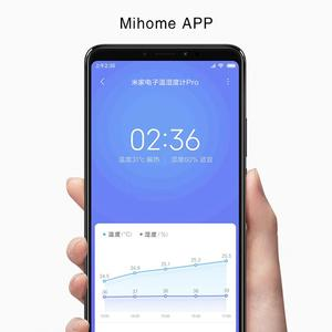 Image 3 - XIAOMI MIJIA Thermometer Pro electronic room thermometer Smart Bluetooth Hygrometer Digital clock  Humidity Sensor Mihome APP