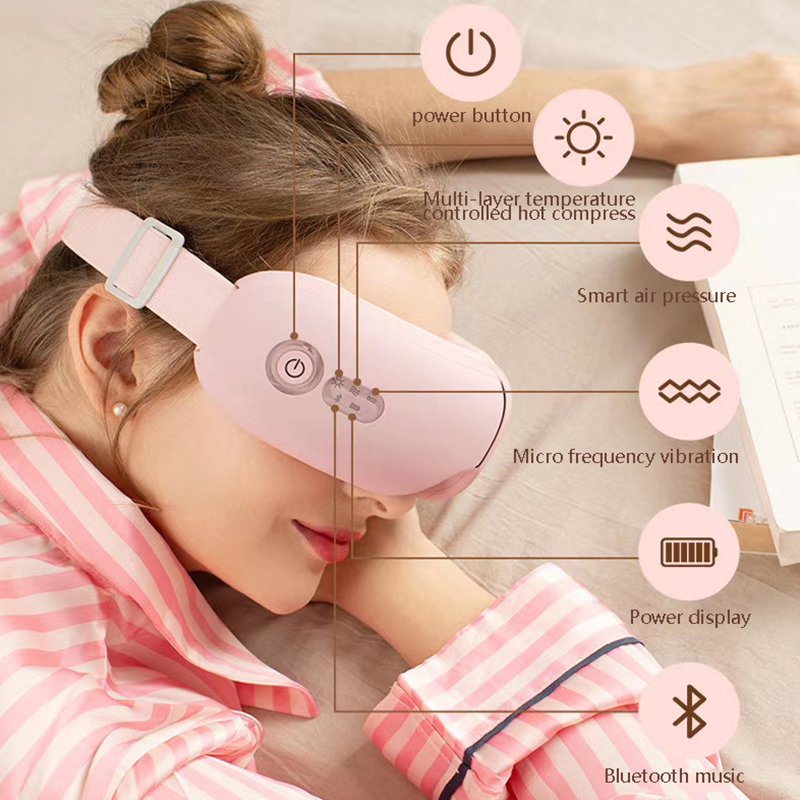 Eye Massager Bluetooth Vibration Hot Compress Eye Care Massager Wrinkle Fatigue Relieve Vibration Massage Therapy Eye Protector|Home Use Beauty Devices| - AliExpress