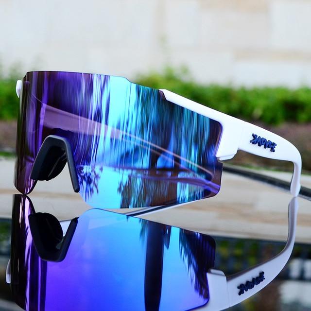 Marca dos homens esportes ao ar livre bicicleta ciclismo óculos de sol mtb bicicleta equitação mulher ciclismo óculos de sol gafas 1 lente 5