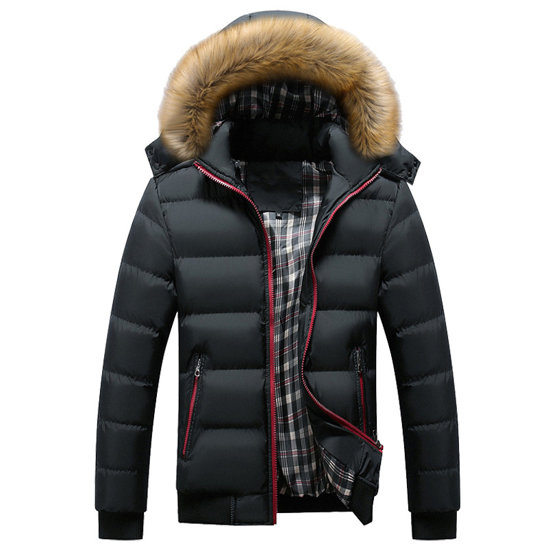 New Winter Men's Coats Male Parkas Thick Hooded Fur Collar Parka Men Fleece Jackets Warm Outwear Male Overcoats 5XL 6XL 7XL