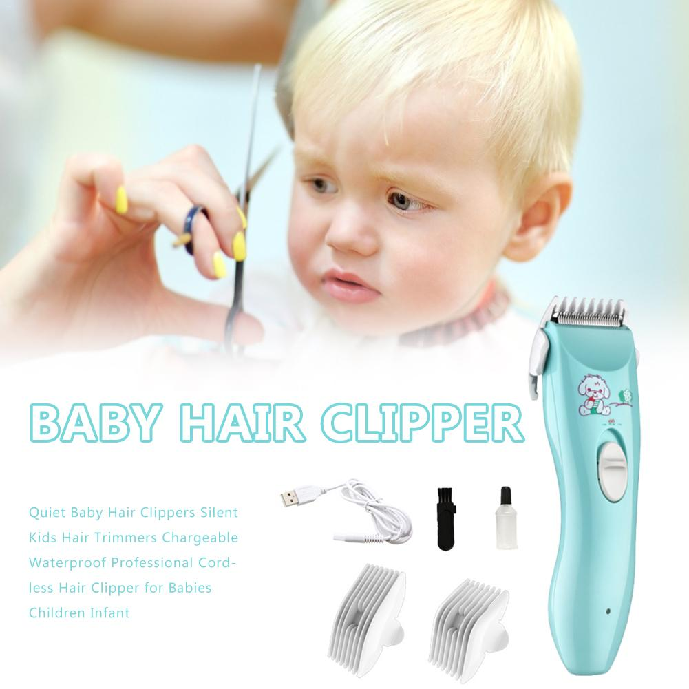 Electric Baby Hair Trimmer Hair Clipper Baby Hair Care Cutting Remover Rechargeable Quiet Kids Infant Women Pet Hair Shaver