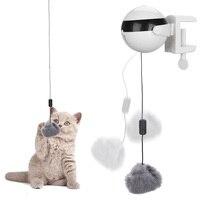 HOOMIN-rompecabezas interactivo para gatos, juguete de Gato elegante eléctrico automático, Bola de felpa, accesorios para gatos