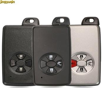 jingyuqin 10pcs Smart Card Remote Car Key Shell Fob For Toyota Avalon Camry Highlander Crown Corolla 2/3/4 BTNS Black/White Case
