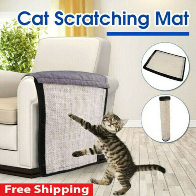 Pet Cat Scratch Guard Mat Sisal Toy Cats Scratching Post Furniture Sofa Claw Protector Pads For Table Chairs Sofa Legs Handrail