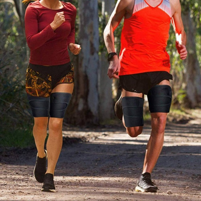 Leg Belt Sweat Thigh Trimmer Sweat Band Leg Slimmer Weight Loss Neoprene Gym Workout Corset Thigh Slimmer Tone Legs Strap Women 3