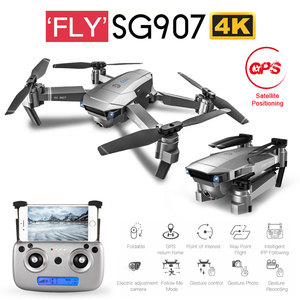 New SG901 SG907 GPS RC Quadcopter with Wifi FPV 1080P 4K HD Dual Camera Optical Flow Drone Follow Me Mini Dron VS SG106 E502S(China)