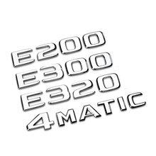Emblema trasero para coche, Mercedes Benz y letras para GLA etiqueta con número/E/C clase C180 C200 C260 E43 E260 E300 E320 E400