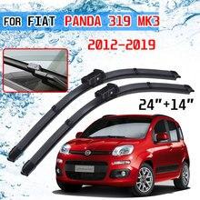 For Fiat Panda 319 MK3 2012 2013 2014 2015 2016 2017 2018 2019 Accessories Car Front Windscreen Wiper Blades Brushes Cutter