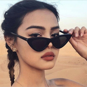 Vintage Fashion Eye Sunglasses Retro Cat Sunglasses Eyeglasses Women Triangular Sun Glasses Oculos De Sol UV400 B0003 image