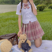 JK Uniform Pleated Skirt Female 2020 Summer New Japanese College Style High Waist Slim Contrast Color Plaid All-match Skirt