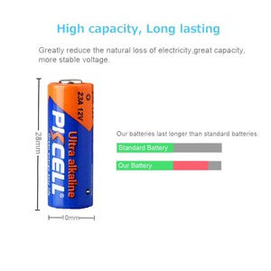 Image 2 - Bateria alcalina 8f10r k23a l1028 23a a23 v23ga mn21 23a 12 v baterias primárias e secas para lâmpada 24 pces pkcell 12 v 23a bateria alcalina