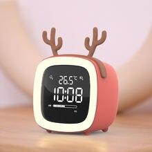 Led Будильник Смарт цифровые часы дети милые мини Цифровые с