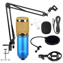 promotion original new isk bm 800 professional recording microphone condenser mic for studio and broadcasting without carry case BM 800 Microphone Studio Microphone Professional microfone bm800 Condenser Sound Recording Microphone For computer
