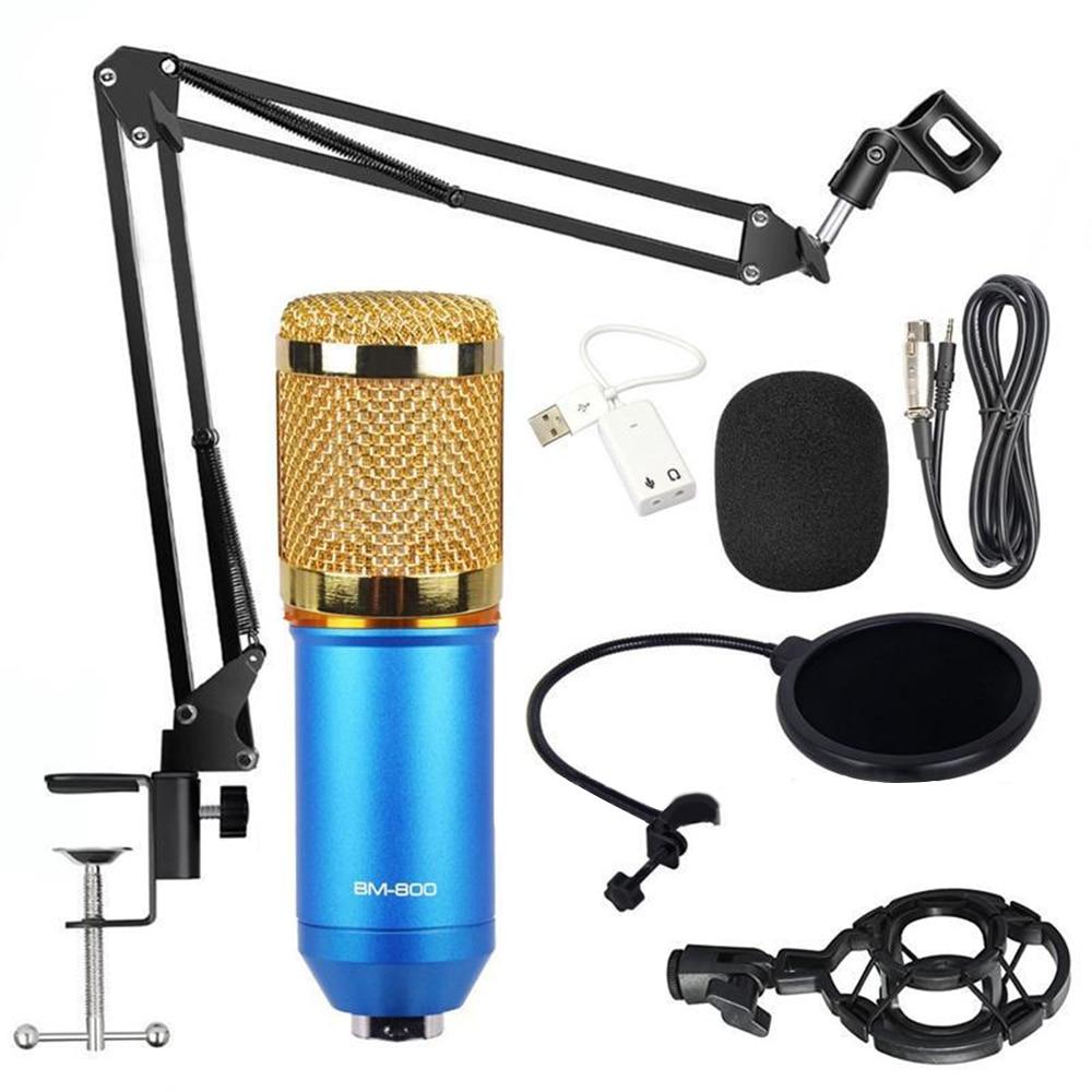 BM 800 Microphone Studio Microphone professionnel microfone bm800 condensateur enregistrement sonore Microphone pour ordinateur