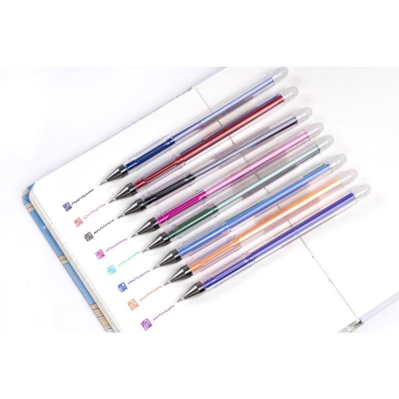 8PCS/Lot Erasable Pen Colorful Gel Pen 0.5mm Refill Ink Drawing Writing Cute Pens Kawaii School Supplies Business Student Gift